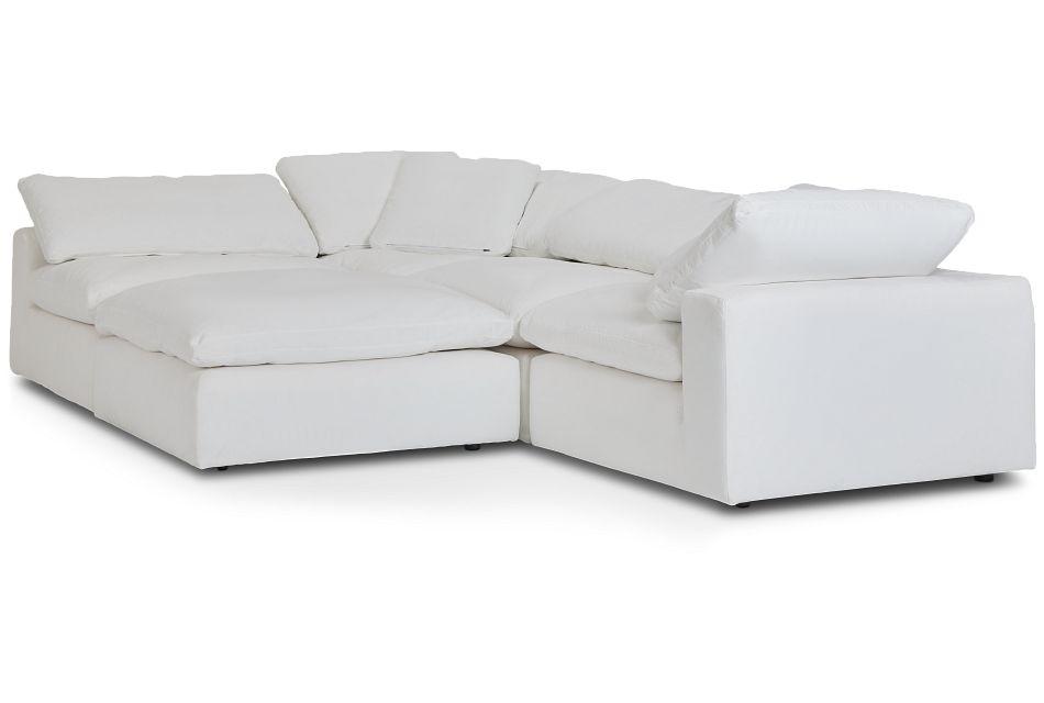 Nixon White Fabric Sectional,  (1)