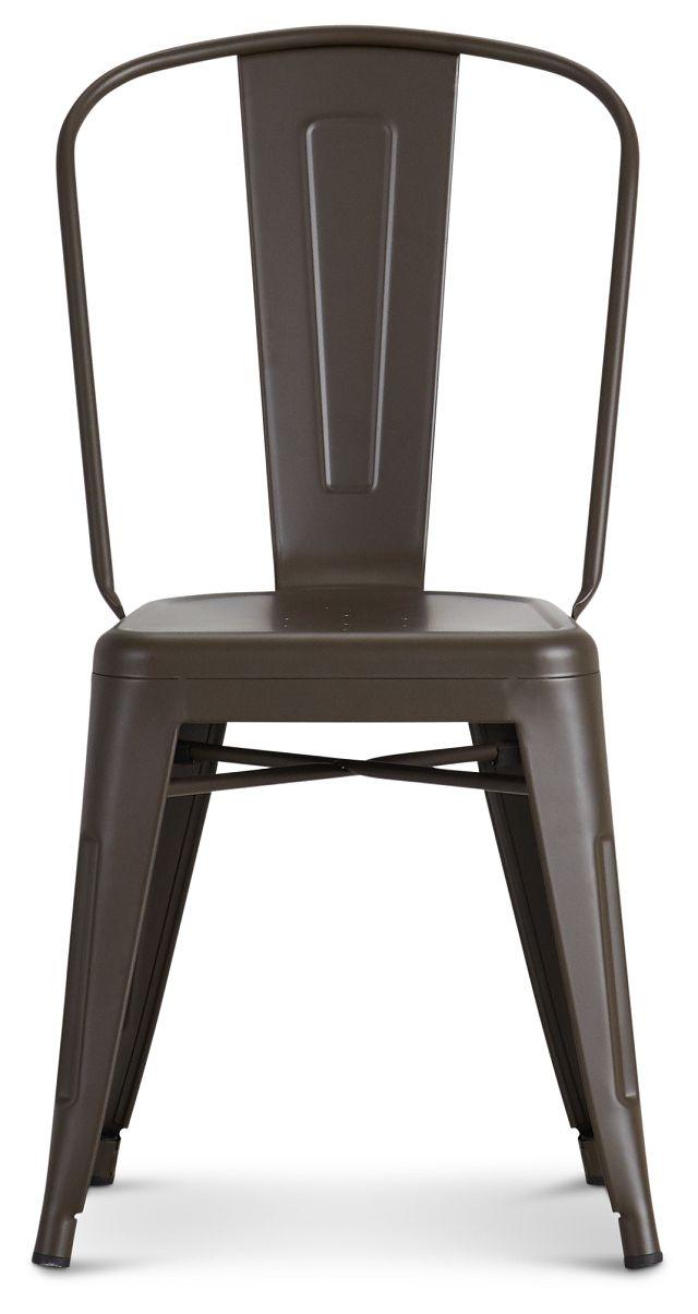 Harlow Dark Tone Metal Side Chair (3)