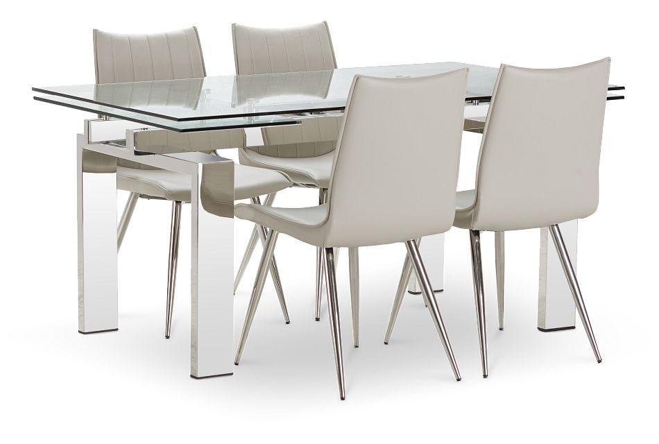 Wynwood Metal Rect Table 4 Light, Wynwood Dining Room Sets