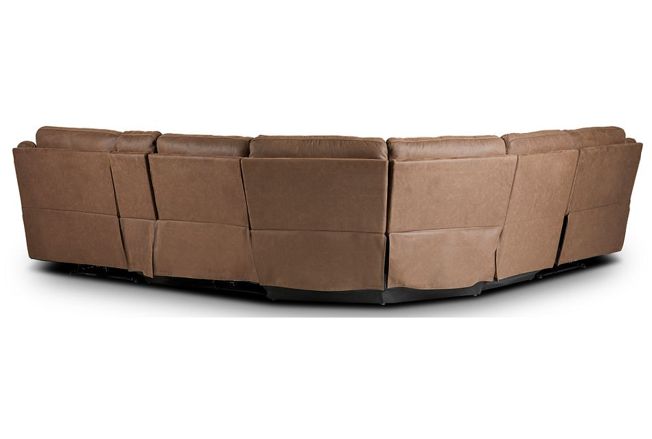 Scout Brown Micro Medium Triple Power Sectional