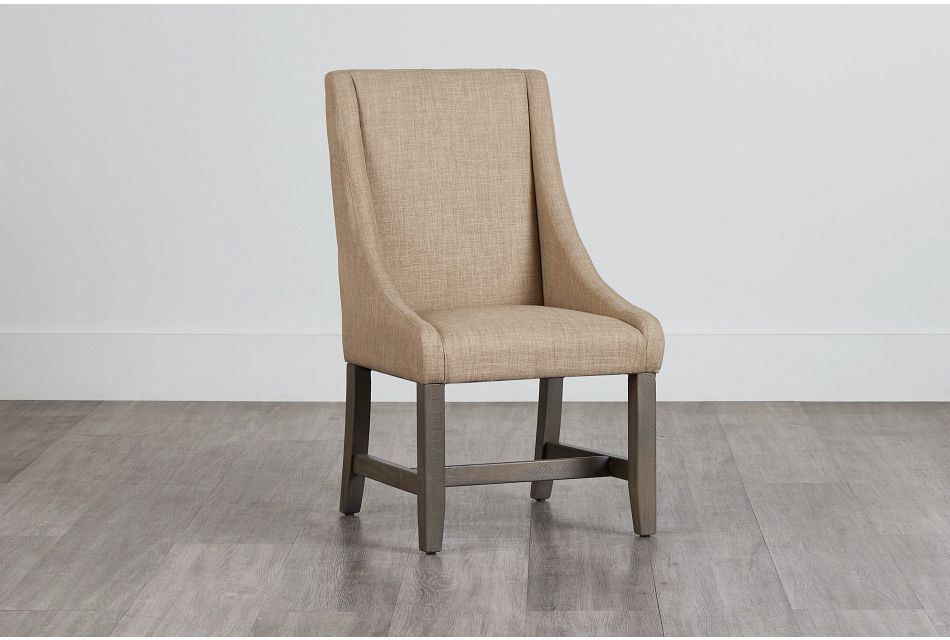 Taryn Light Taupe Upholstered Arm Chair,  (0)