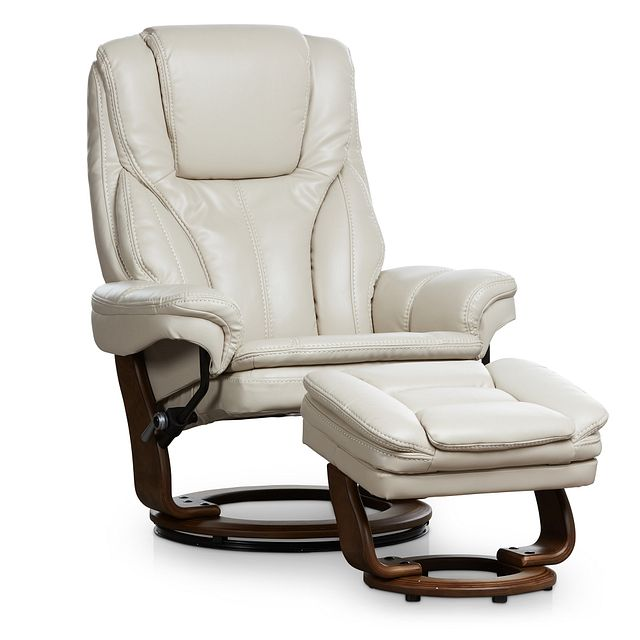 Perkins Taupe Micro Recliner & Ottoman (0)