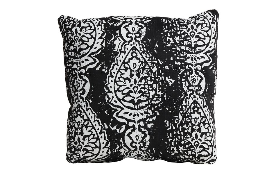 Manchester Black 18 Indoor Outdoor Accent Pillow Outdoor Accent Pillows City Furniture