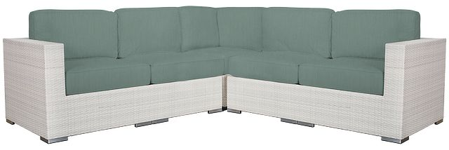 Biscayne Teal Small Two-arm Sectional (0)