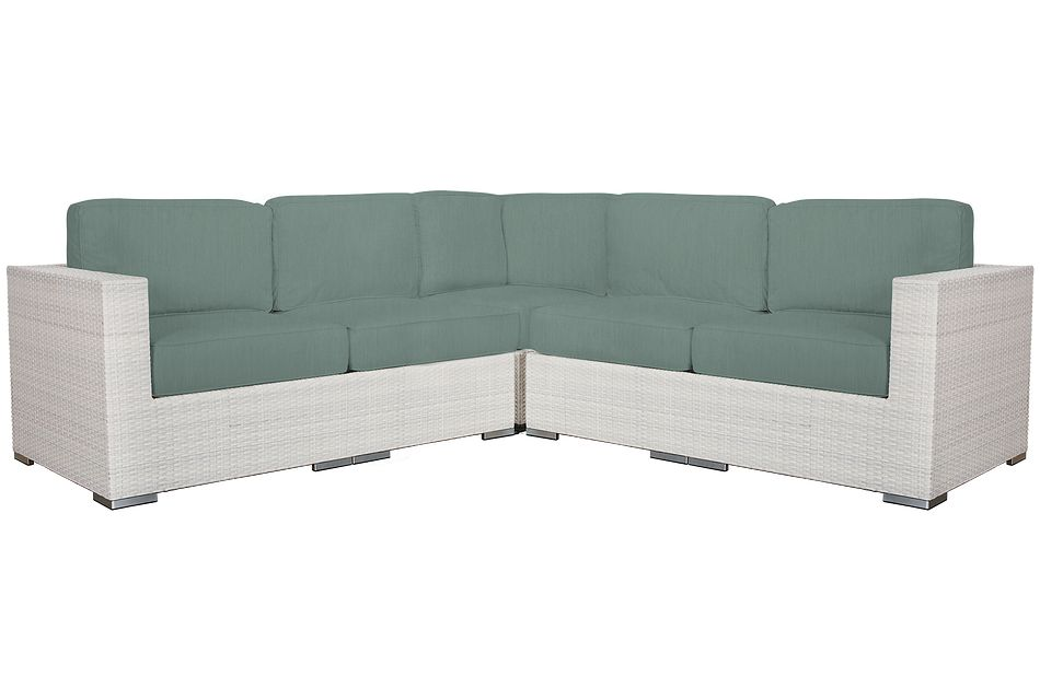 Biscayne Teal Small Two-arm Sectional