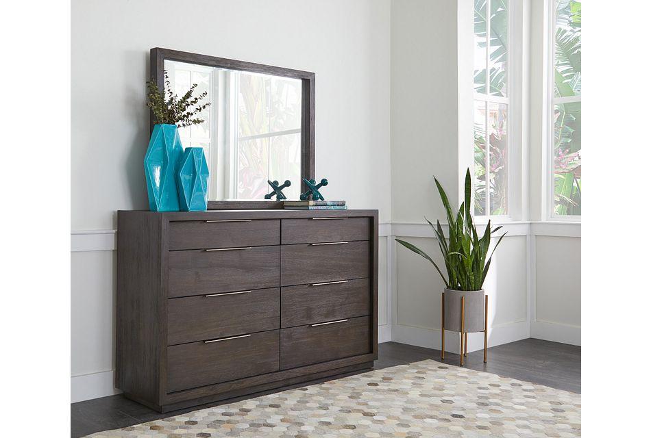 Madden Dark Tone Dresser & Mirror,  (1)