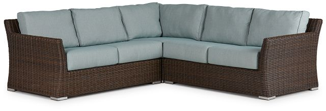 Southport Teal Woven Small Two-arm Sectional (0)