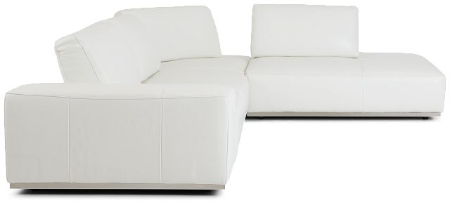 Landon White Leather Right Bumper Sectional (2)