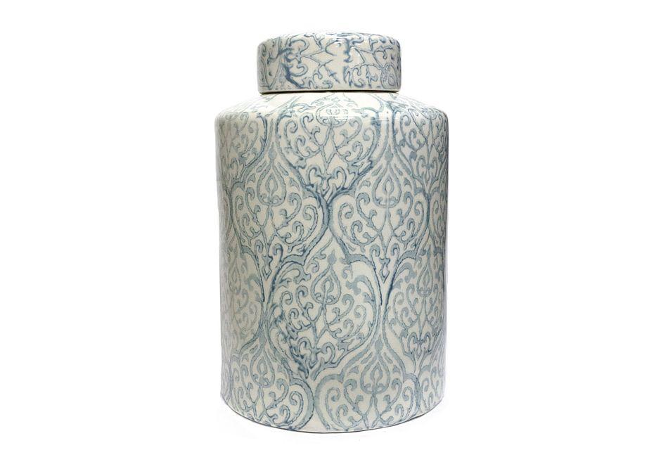 Floral Light Blue Jar