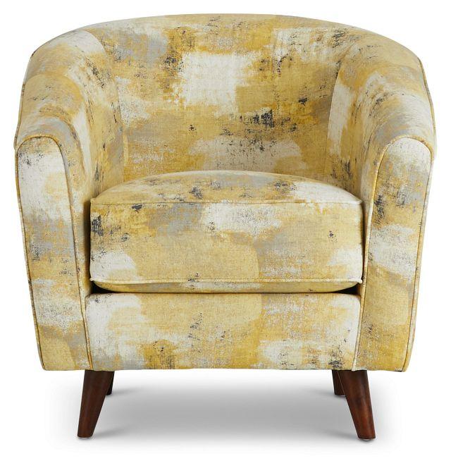 Antalya Yellow Fabric Accent Chair (3)