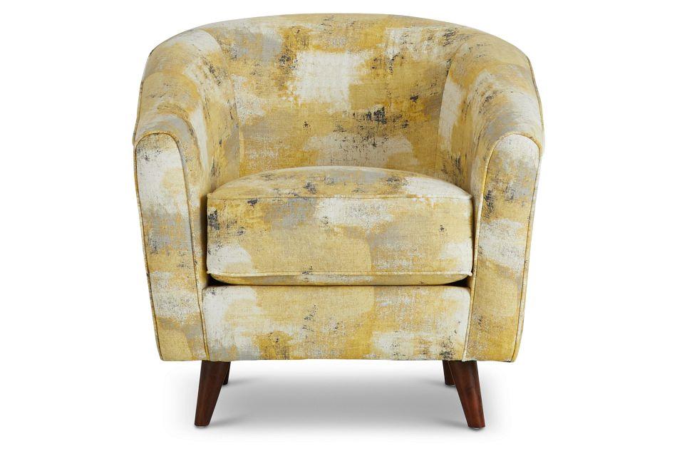 Antalya Yellow Fabric Accent Chair