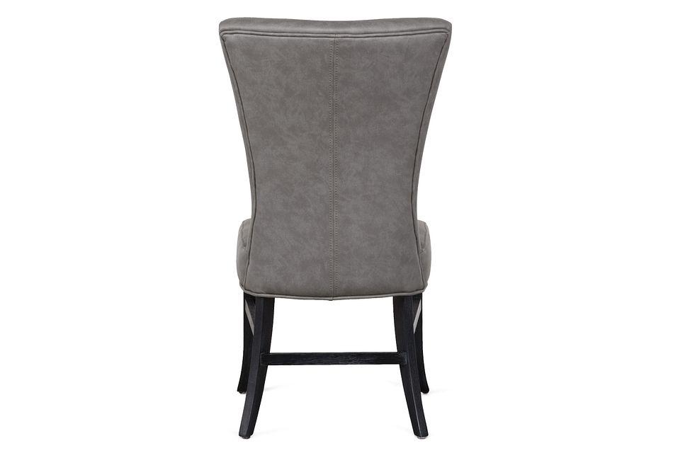 Lori Dark Gray Micro Side Chair