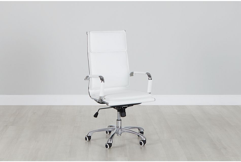 Arvada White Uph Desk Chair, %%bed_Size%% (0)