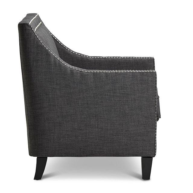 Erica Dark Gray Fabric Accent Chair (2)