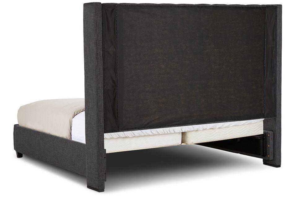 Chatham Dark Gray High Platform Storage Bed