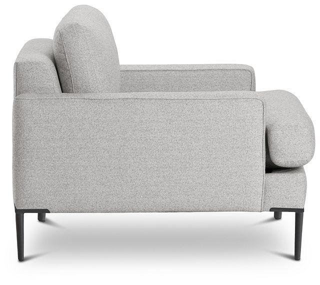 Morgan Light Gray Fabric Chair With Metal Legs (2)