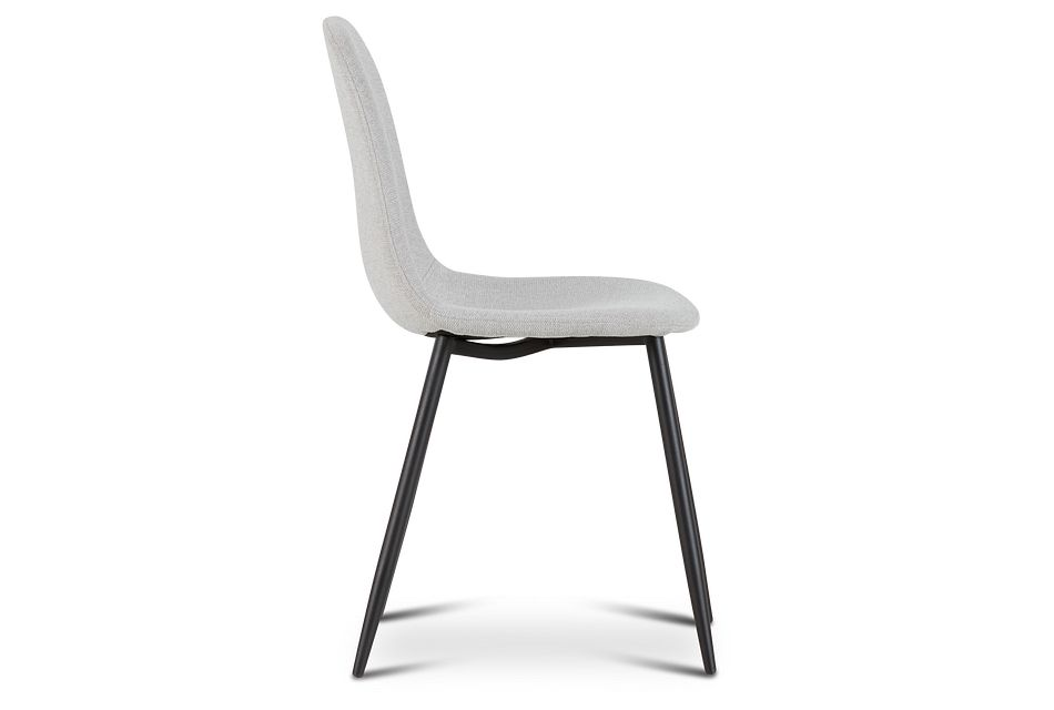 Havana Light Gray Upholstered Side Chair W/ Black Legs