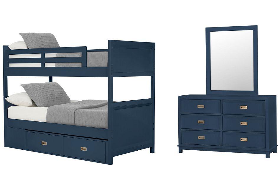 Ryder Dark Blue Panel Storage Bedroom