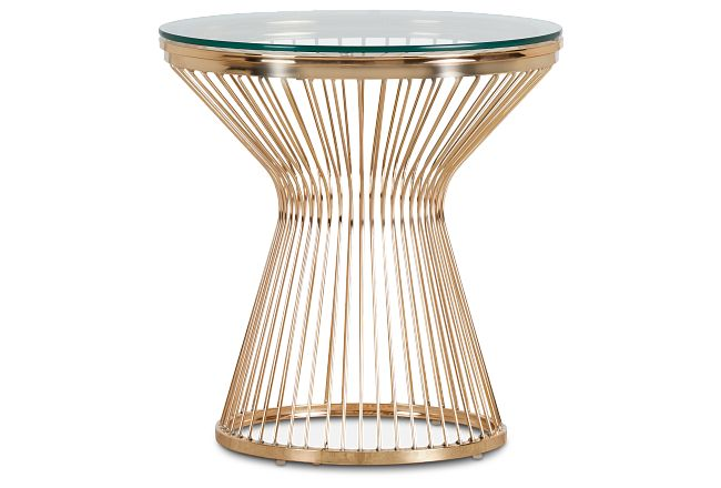 Munich Gold Metal Round End Table