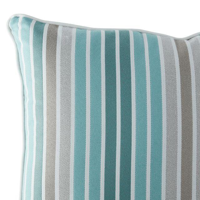 """Spring Aqua 18"""" Indoor/outdoor Square Accent Pillow (1)"""