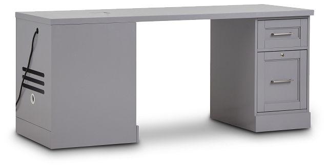 Newport Gray Peninsula Desk (2)