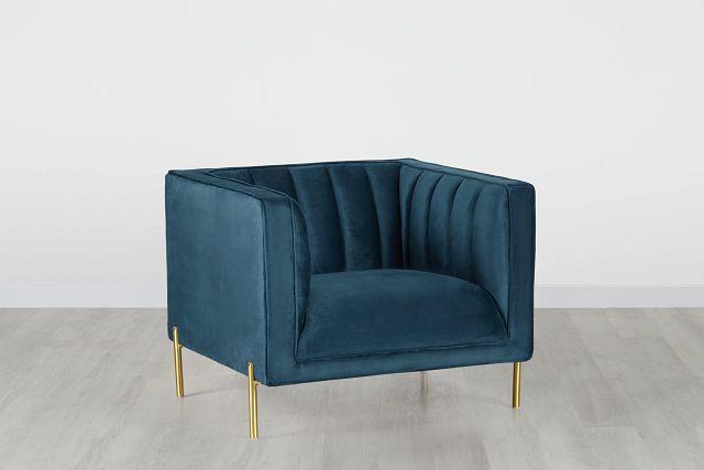 Bella Dark Blue Velvet Chair (0)
