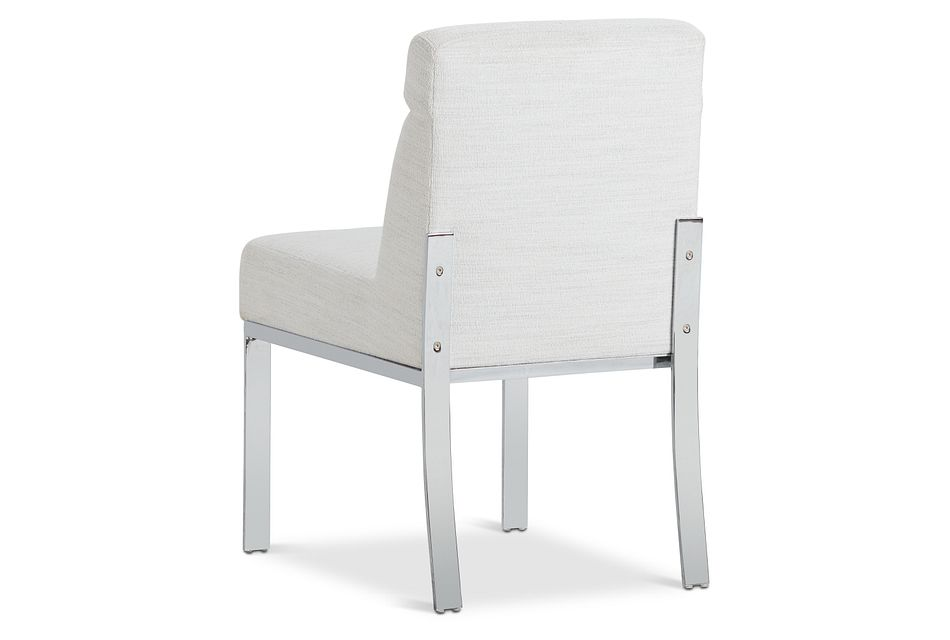 Ocean Drive White Metal Upholstered Side Chair