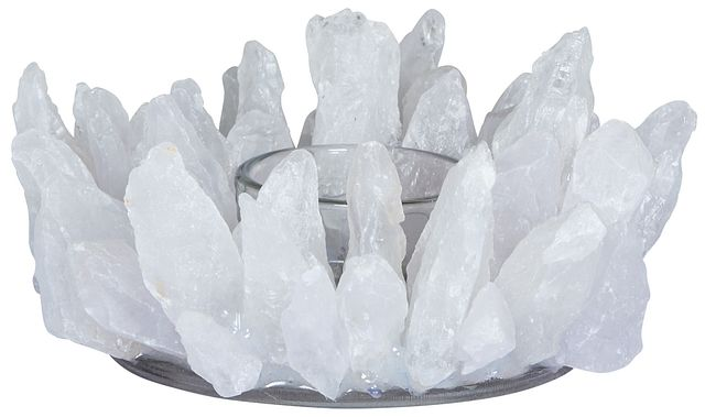 Agate White Candle Holder (2)