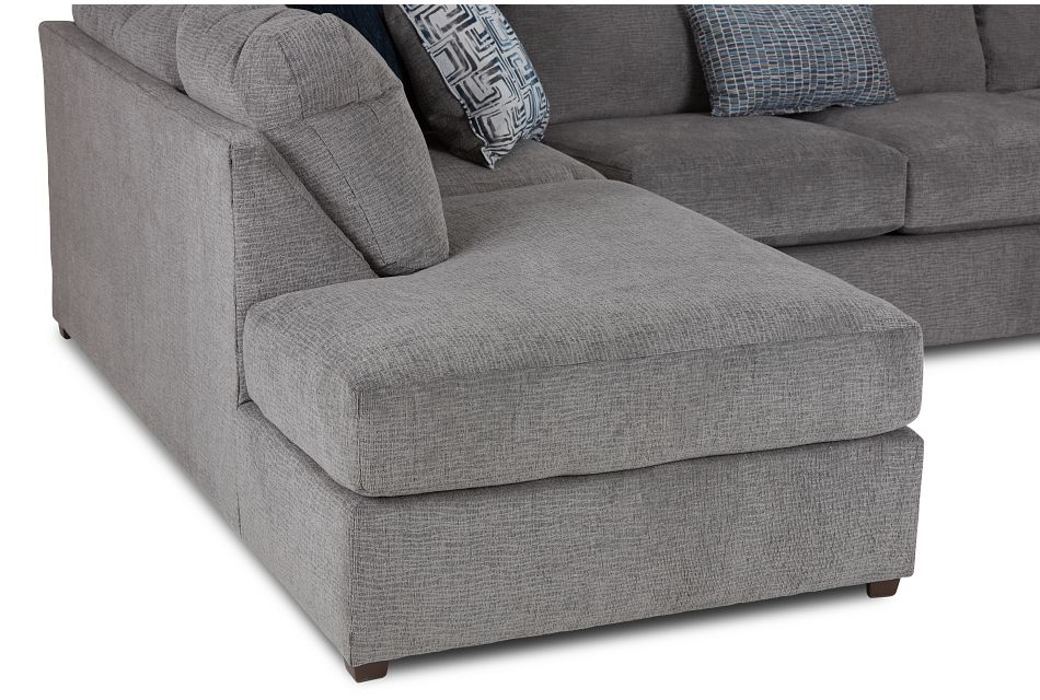 Banks Gray Fabric Left Bumper Sectional