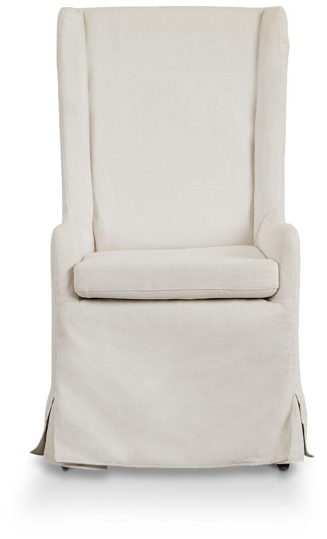 Savannah Beige Uph Skirted Arm Chair (3)