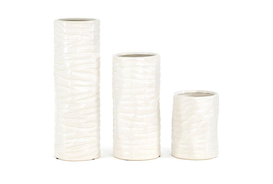 Harmony White Medium Vase