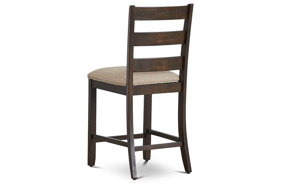 "Sawyer Dark Tone 24"" Wood Barstool"
