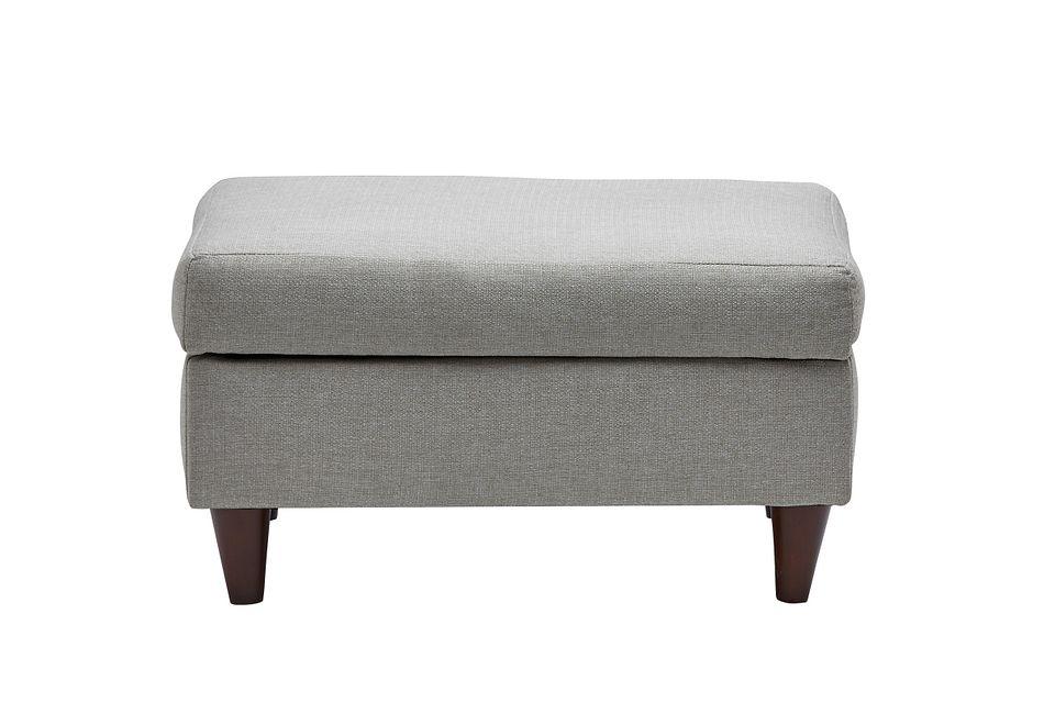 Jensen Light Gray Fabric Storage Ottoman