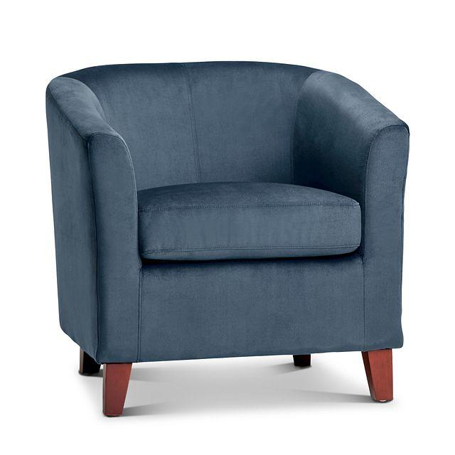 Concord Dark Blue Velvet Accent Chair (0)