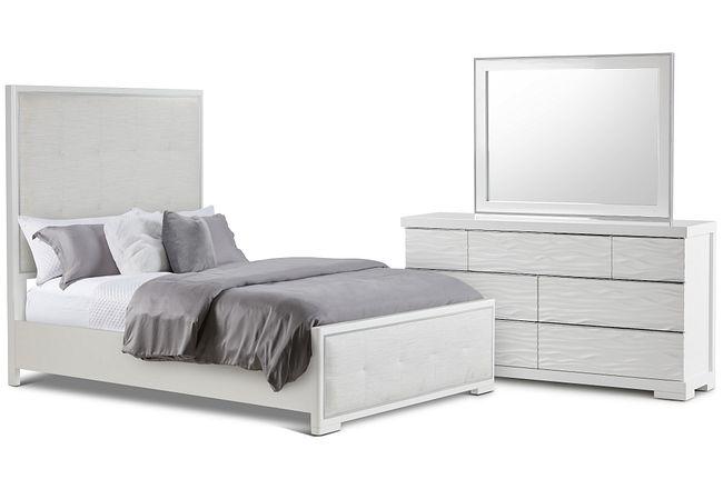 Ocean Drive White Uph Panel Bedroom