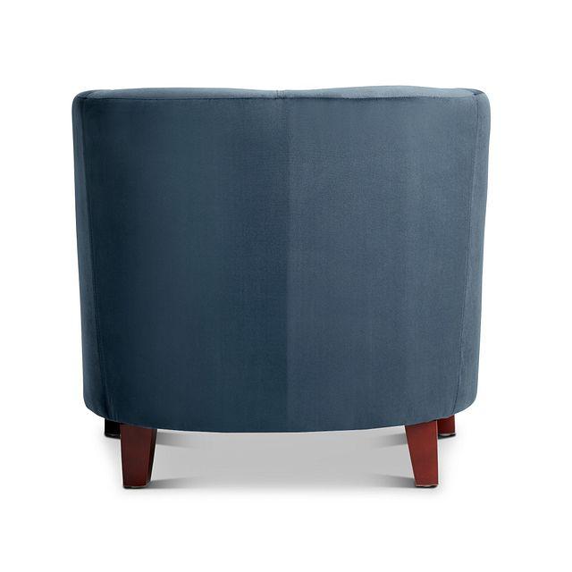 Concord Dark Blue Velvet Accent Chair (3)