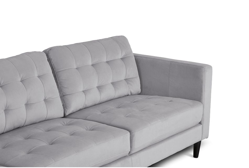 Shae Light Gray Micro Left Chaise Sectional