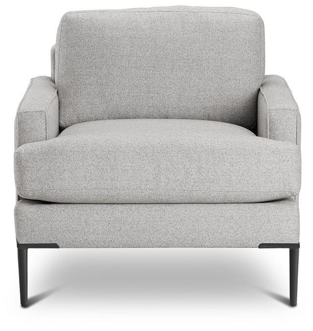 Morgan Light Gray Fabric Chair With Metal Legs (3)