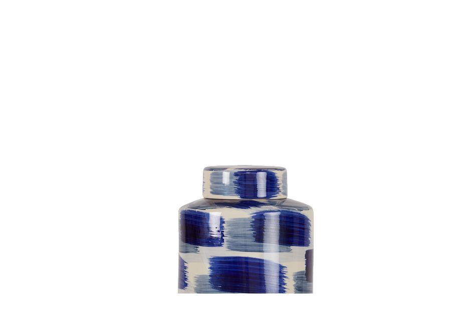 Alula Large Dk Blue Jar,  (3)