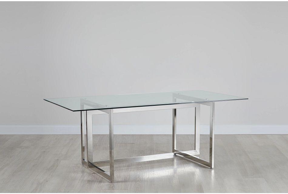 Bronx Glass  Rectangular Table,  (0)