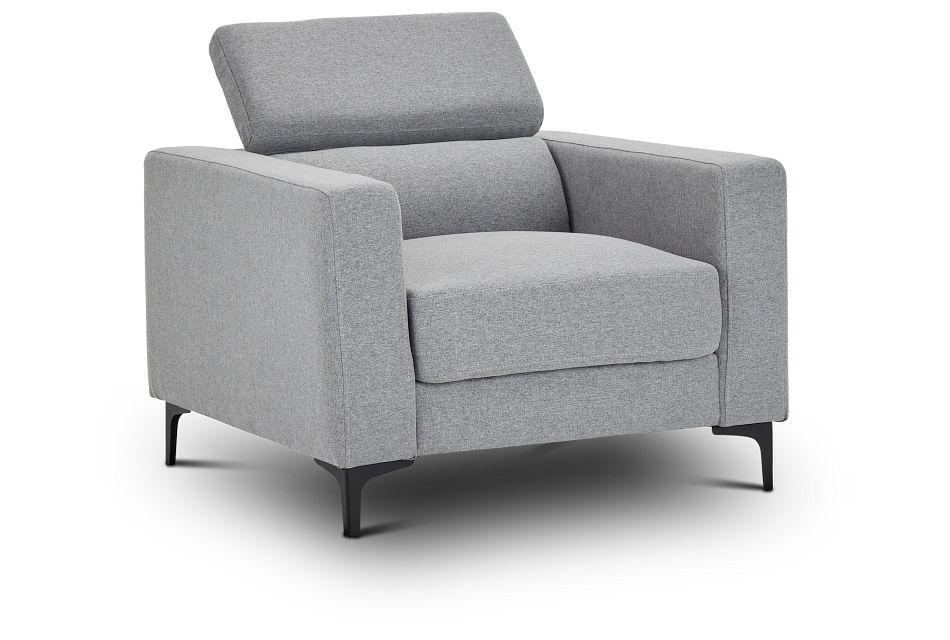 Trenton Light Gray Fabric Chair,  (3)