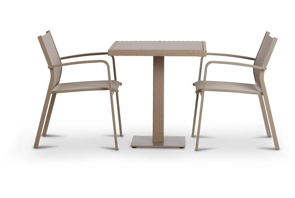 "Lisbon Khaki 27"" Square Table & 2 Chairs"