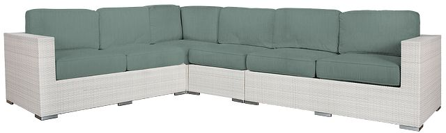 Biscayne Teal Large Two-arm Sectional (0)