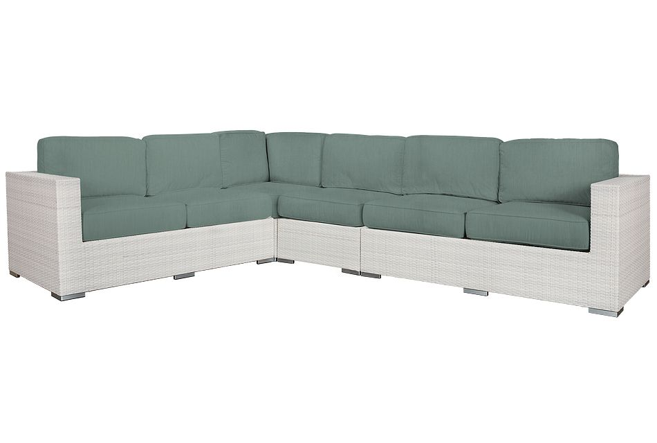 Biscayne Teal Large Two-arm Sectional