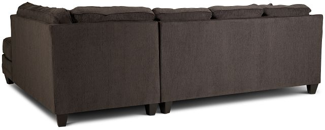 Charlie Dark Gray Fabric Right Bumper Sectional