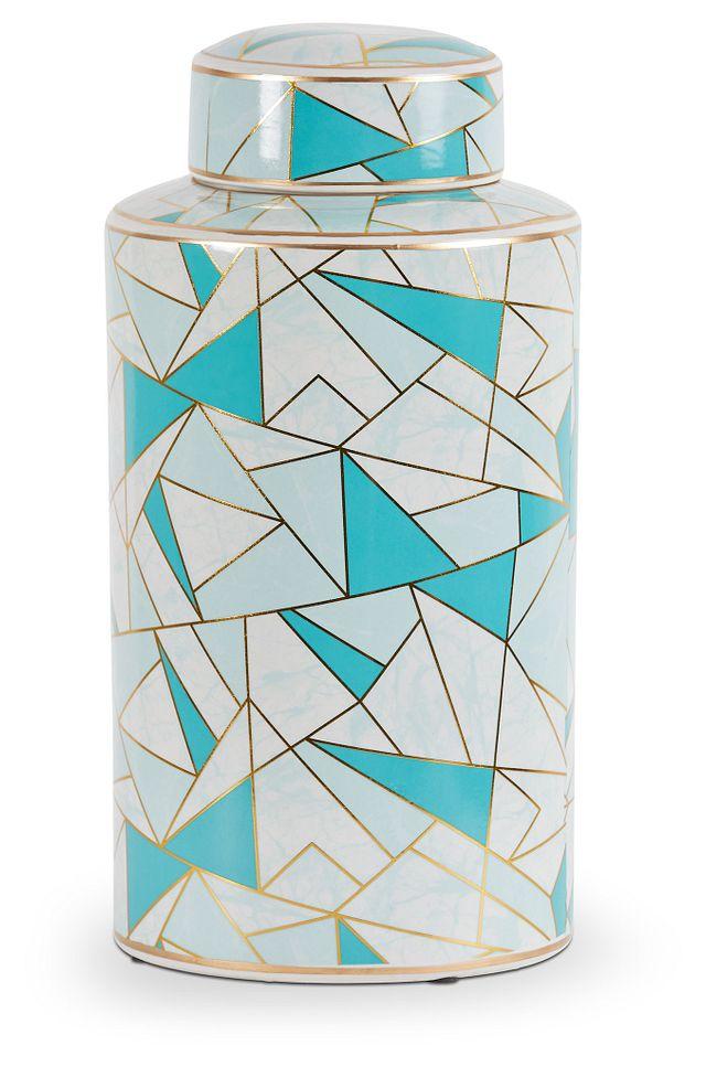 Marlon Teal Large Jar