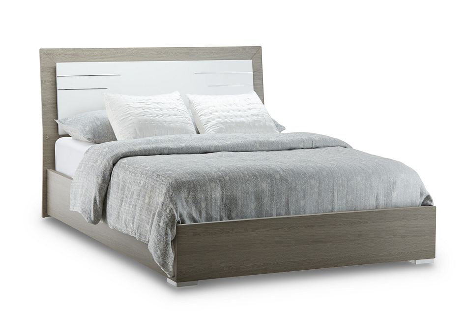 Sofia Two-tone Panel Panel Bed
