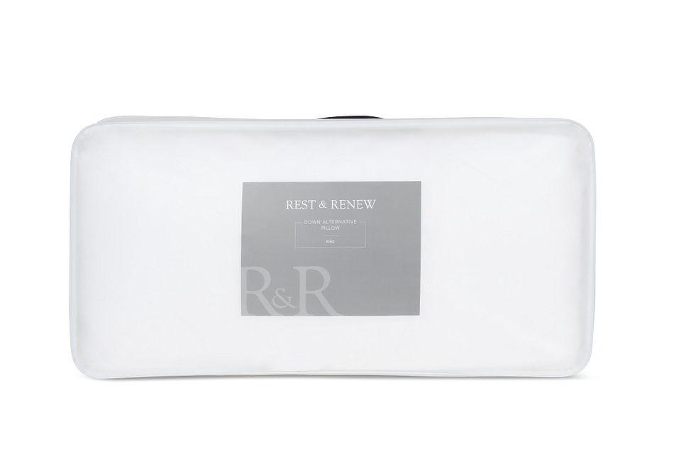 Rest & Renew Down Alternative Plush Stomach Sleeper Pillow