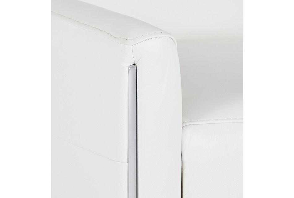 Taylon White Lthr/vinyl Power Recliner