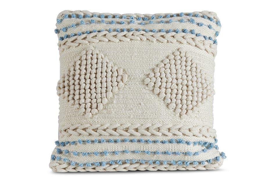 Teresa Blue Square Accent Pillow